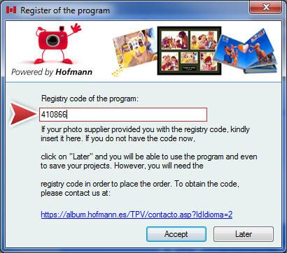 register the program code Hofmann